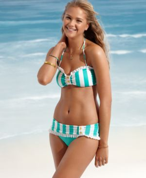 Jessica Simpson Swimsuit, Cabana Stripe Bottom Women's Swimsuit