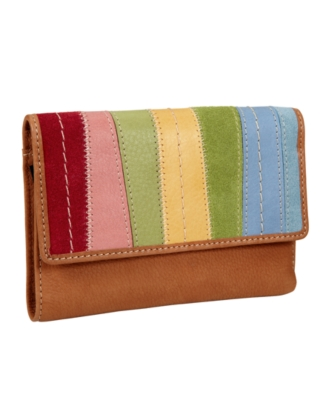 Fossil Wallet, Popstitch Patchwork Multifunction