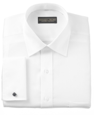 Donald Trump Dress Shirt, Non Iron White Twill French Cuff