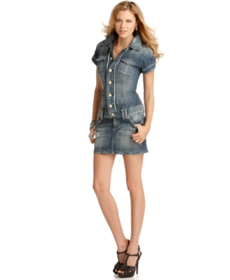 GUESS Dress, Darci Denim Drop Waist