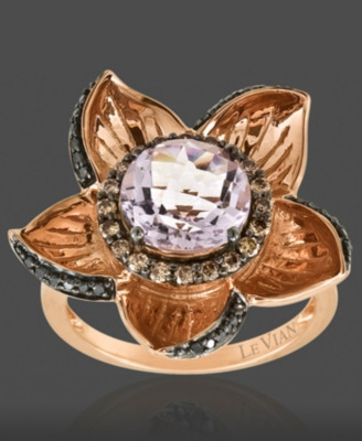 Le Vian 14k Rose Gold Ring, Amethyst (2-3/4 ct. t.w.) and Diamond (3/8 ct. t.w.)