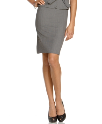 BCX Skirt, Pinstripe Pencil Skirt