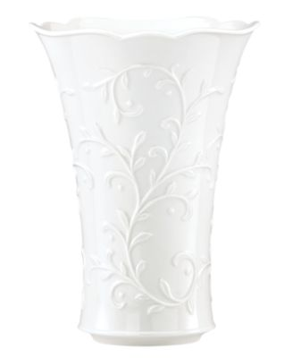 Lenox Gifts, Opal Innocence Carved Vase 9""
