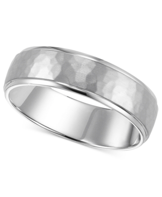 14k White Gold Ring, 6 mm Engraved Band (Size 4-8)