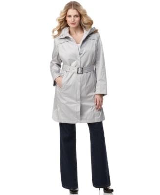 Calvin Klein Plus Size Coat, Modern Trench