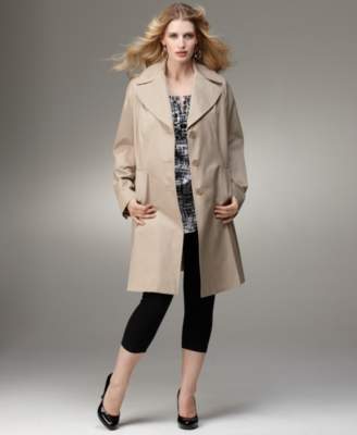 DKNY Plus Coat, Long Raincoat