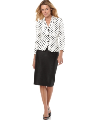 Suit Studio Suit, Polka Dot Jacket and Skirt