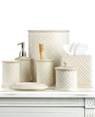 Martha Stewart Collection Bath Accessories Basketweave Soap Dish Bathroom Accessories Bed