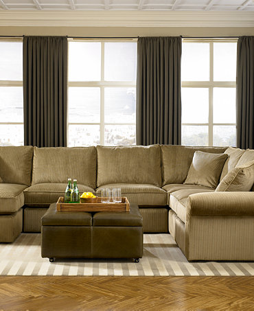 Virtual Fabric Sectional Living Room Furniture Collection