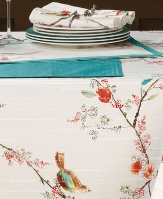 "Lenox Table Linens, 70"" Chirp Round Tablecloth"