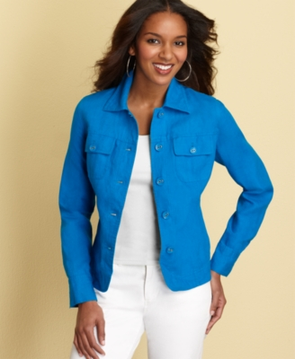 Charter Club Jacket, Linen Relaxed