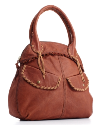 Lucky Brand Jeans Handbag, Roadside Attraction Leather Bowler Bag - Lucky Brand Jeans