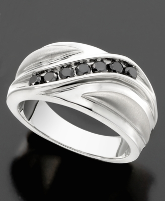 Sterling Silver Ring, Black Diamond (1/2 c.t. t.w.) - Decorative Rings