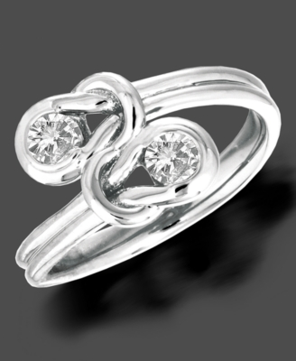 Everlon Ring, Diamond Knot 14k White Gold (1/3 ct. t.w.)