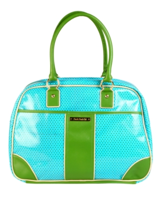 Double Dutch Satchel, Green Dot - Travel Bags