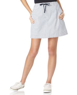 Karen Scott Skort, Seersucker Double Stripe