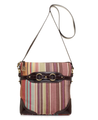 Giani Bernini Handbag, Rainbow Stripe Crossbody Bag - Printed Shoulder Bag
