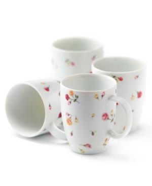 Royal Albert Dinnerware, Set of 4 Country Rose Buds Mugs