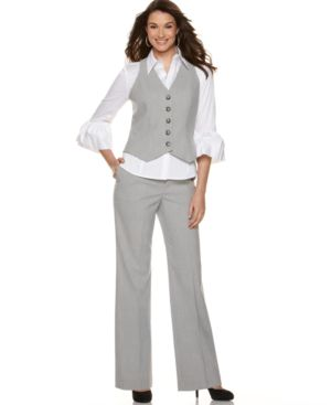 Nine West Suit, Shirt, Vest & Pants