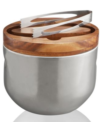 Nambe Barware, Mikko Ice Bucket with Tongs