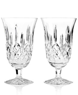 Waterford Stemware, Lismore Iced Beverage Glasses, Set of 2