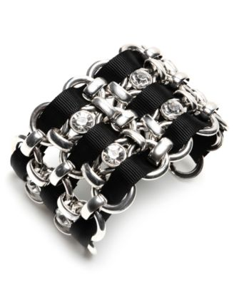 Betsey Johnson Iconic Bracelet, Crystal Cuff