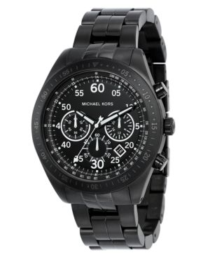 MICHAEL Michael Kors Watch, Men's Black Stainless Steel Bracelet MK8139 - Michael Kors