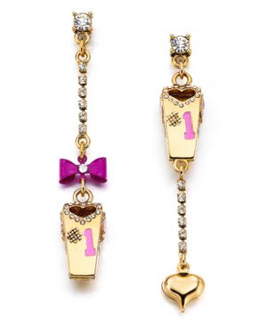 Gold Dangle Earrings - Betsey Johnson