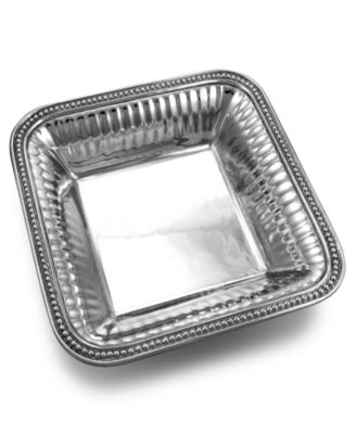 Wilton Armetale Serveware, Flutes and Pearls Square Bowl