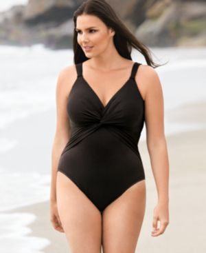 Miraclesuit Plus Size Swimsuit, Pandora Control One Piece Women's Swimsuit - Swimwear
