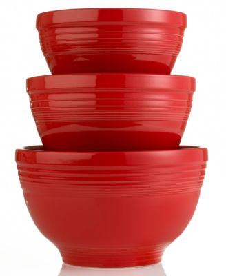 Fiesta Scarlet 3-Piece Baking Bowl Set