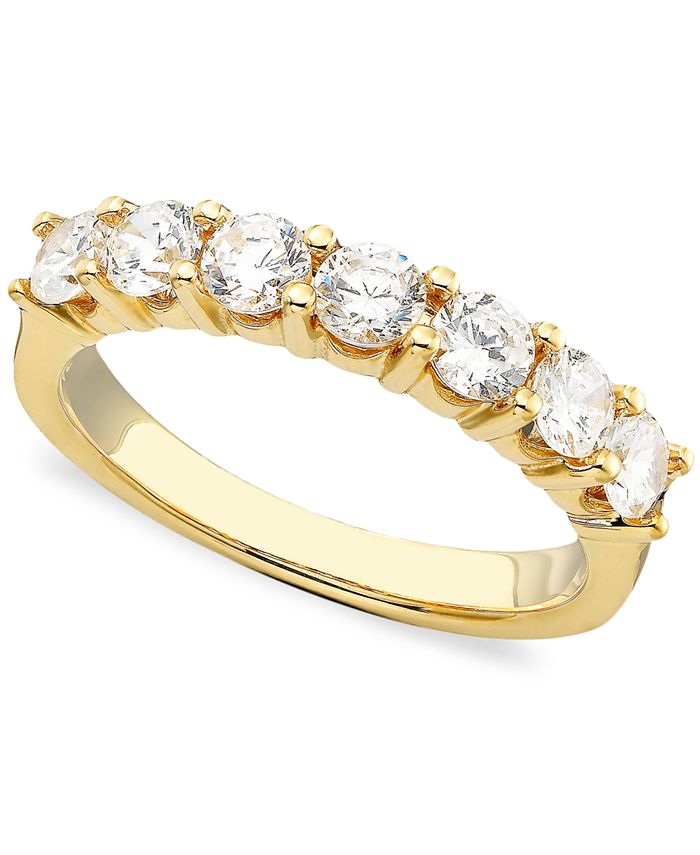 Macy's - Seven Diamond Band in 14k Gold or White Gold (1 ct. t.w.)