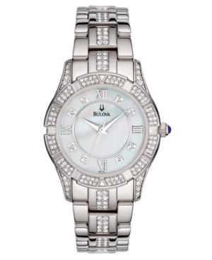 Bulova Women's Silver-Tone Bracelet Watch 96L116