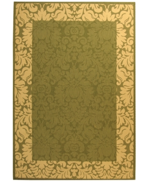"Safavieh Area Rug, Indoor/Outdoor Courtyard 200 Olive/Natural 7' 10"" Square"