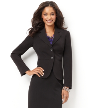 Charter Club Petite Blazer, Double Button Suiting