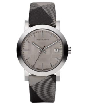 Burberry Watch, Check Fabric Strap 38mm BU1774