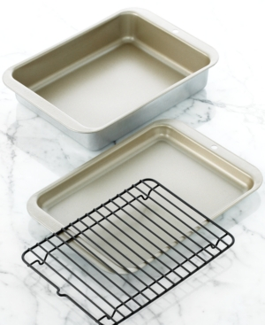 nordicware toaster grill and bake set, 3 piece compact ovenware