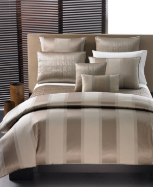 Hotel Collection Bedding, Wide Stripe Bronze Twin Duvet Cover Bedding