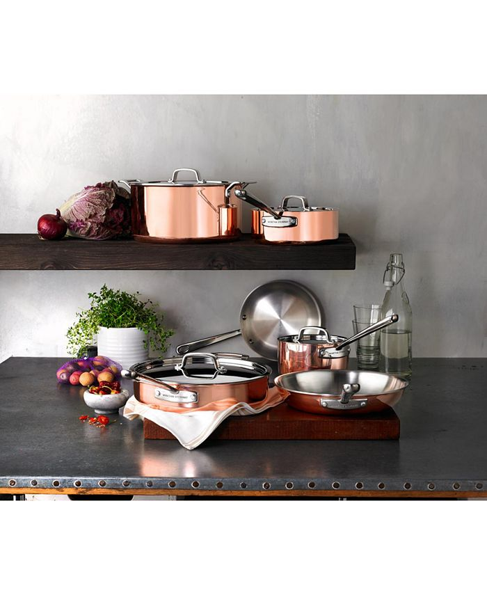 Martha Stewart Collection - Tri-Ply Copper 10-Pc. Cookware Set