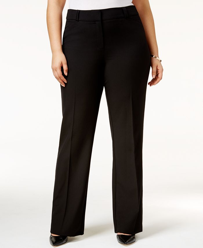 Alfani - Plus Size Straight-Leg Trousers