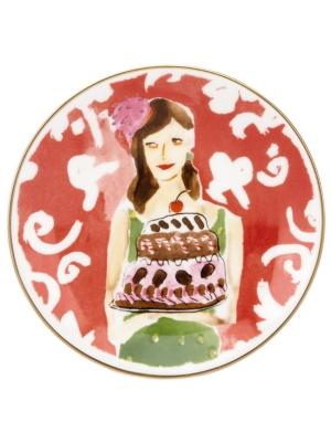 kate spade new york Serveware, Set of 4 Illustrated Just Desserts Tidbit Plates