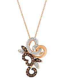 Le Vian Chocolatier® Diamond Pendant Necklace (1/3 ct. t.w.) in 14k Rose Gold