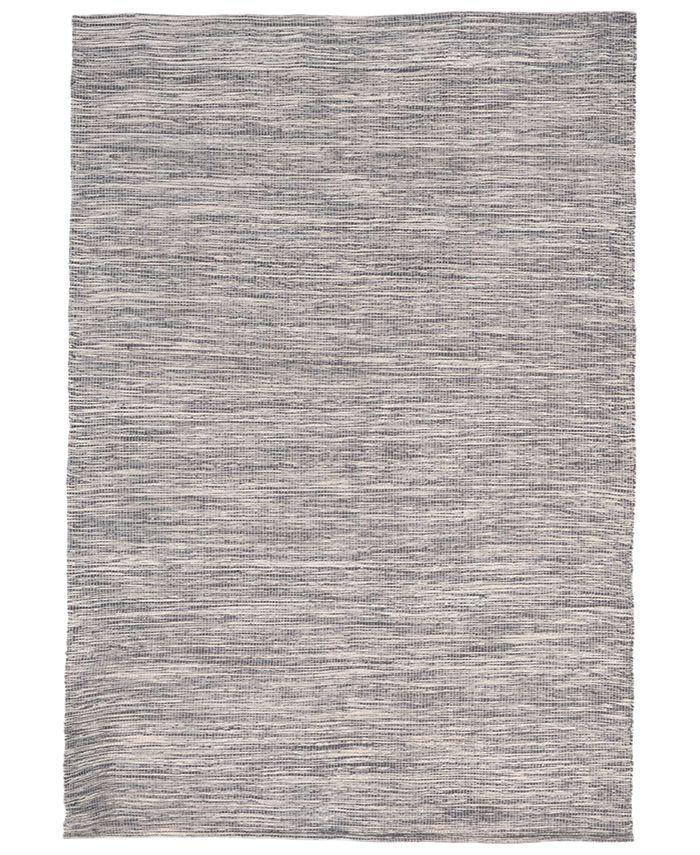 """Liora Manne' - Java Indoor/Outdoor Lamar Charcoal Flatweave 7'6""""x 9'6"""" Area Rug"""