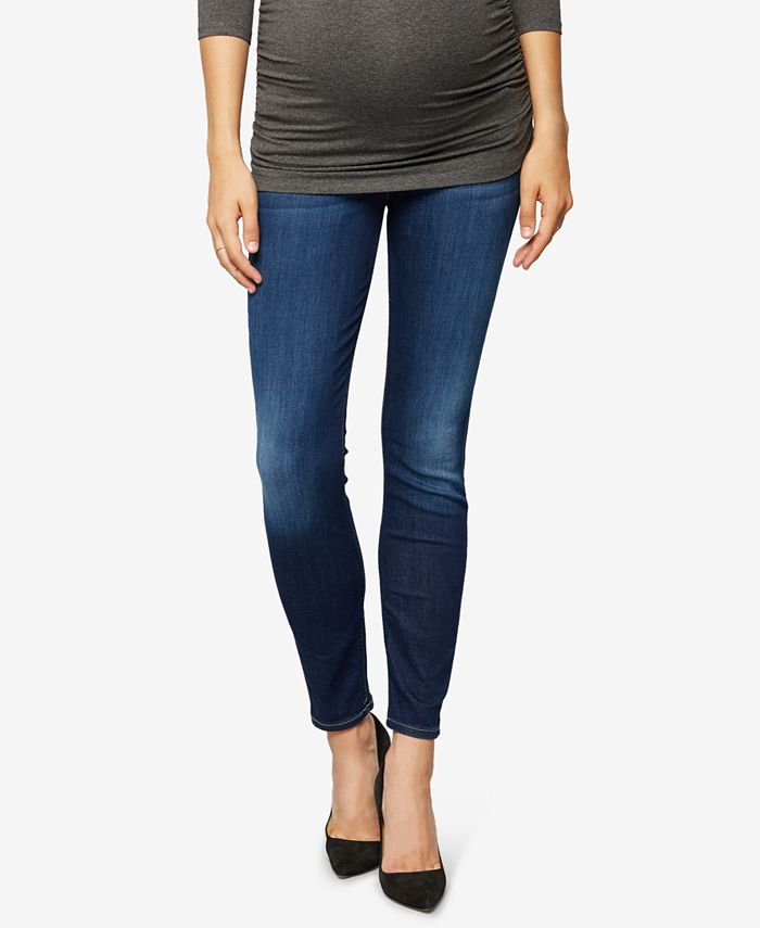 7 For All Mankind - Maternity Dark-Wash Skinny Jeans
