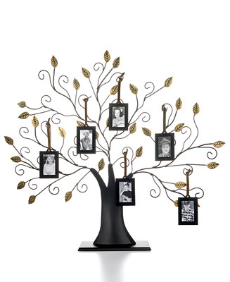 Family Tree With Set Of 6 Hanging Frames Collections