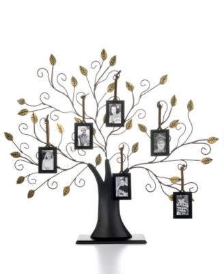 Family Tree with Set of 6 Hanging Frames