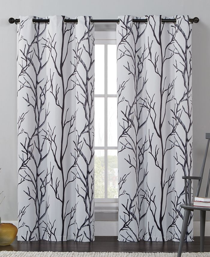 "Victoria Classics - Kingdom Branch-Print 40"" X 84"" Blackout Window Panel"