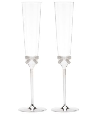 kate spade new york Set of 2 Grace Avenue Toasting Flutes