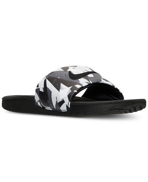 Nike Men's Kawa Print Slide Sandals from Finish Line ...