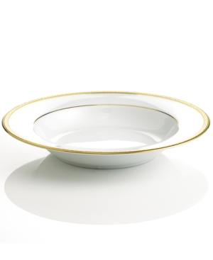 "Charter Club ""Grand Buffet Gold"" Rim Soup Bowl"